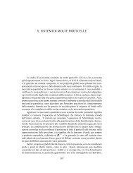 X. SISTEMI DI MOLTE PARTICELLE - Sezione di Pavia
