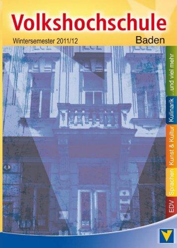 sprachen nachmittag/abend - VHS Baden