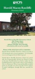 Harold Macon Ratcliffe - Henrico County Public Schools