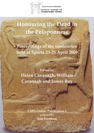 Honouring the Dead in the Peloponnese - The University of ...