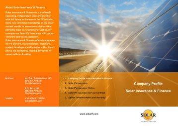 Company Profile Solar Insurance