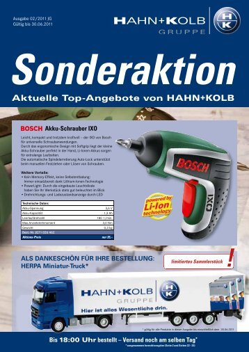 Sonderaktion HK-Nachrichten - EN / Hahn+Kolb