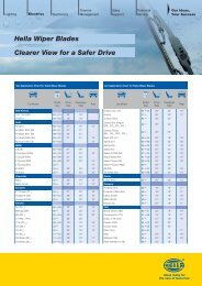Hella Wiper Blades Clearer View for a Safer Drive