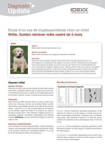 Diagnostic Update Étude d'un cas de cryptosporidiose chez un chiot