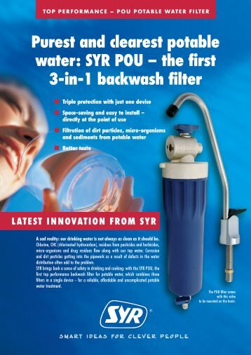 Purest and clearest potable water: SYR POU – the first 3-in-1 ...