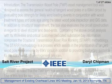 Salt River Project Daryl Chipman - Ieee-tpc.org