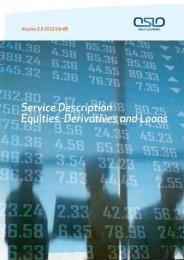 OSLO CLEARING ASA Service Description Equities, Derivatives ...