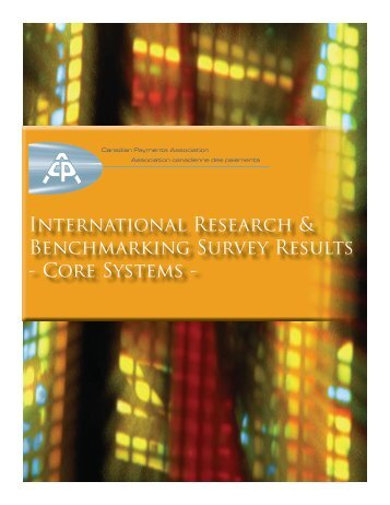 International Research & Benchmarking Survey Results - Canadian ...