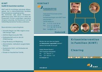Flyer Clearing (KINT) - Diakonische Jugendhilfe Region Heilbronn eV