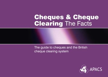 Cheques & Cheque Clearing The Facts - PhoenixHecht.com