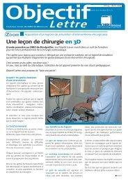 Objectif lettre - CHU Montpellier