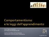 Comportamentismo - Marco Vicentini
