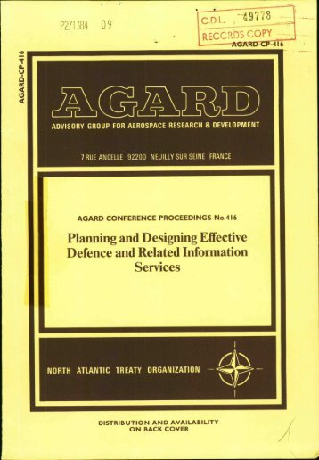 Planning and Designing Effective Defence and Related Information ...