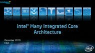 Intel Many Integrated Core (MIC) architecture - many-core.group