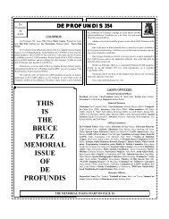 this is the bruce pelz memorial issue of de profundis - LASFS