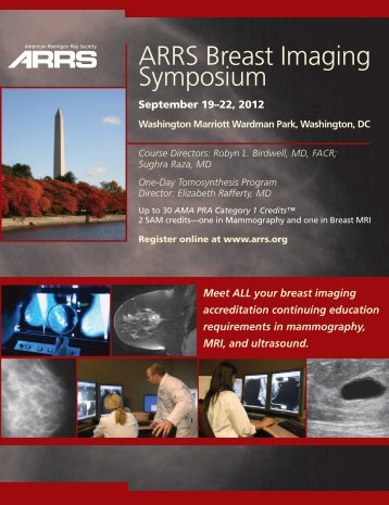 ARRS Breast Imaging Symposium - American Roentgen Ray Society