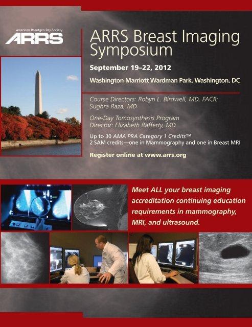 ARRS Breast Imaging Symposium - American Roentgen Ray Society