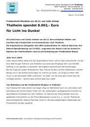 Thalheim spendet 8.002,- Euro für Licht ins Dunkel - Thalheim bei ...