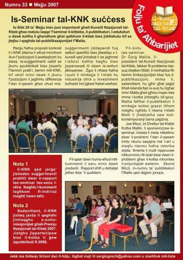 Folju 33.pmd - Il-Kunsill Nazzjonali tal-Ktieb
