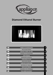 Diamond Ethanol Burner - Manual - PVG