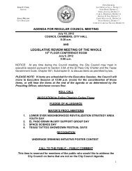 agenda for regular council meeting legislative - City of El Paso