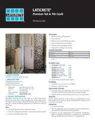 Premium Tub & Tile Caulk - Laticrete