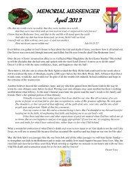 Newsletter - Memorial Lutheran Church