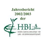 Jahresbericht 2002/2003 der - (HBLA) Kematen