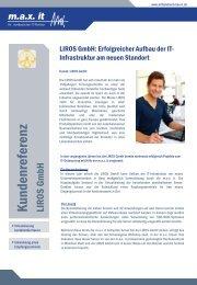 Kundenbericht Liros GmbH - max it