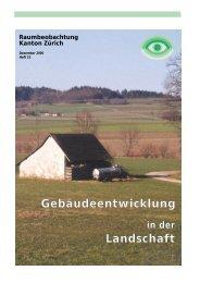 Gebäudeentwicklung Landschaft - Amt für Raumentwicklung ...