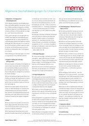 Allgemeine Geschäftsbedingungen für Unternehmer - memoWorld
