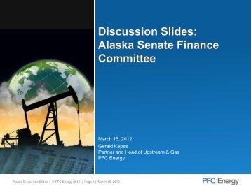 March 15, 2012 presentation - Alaska Legislative Budget and Audit ...
