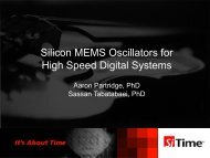 Silicon MEMS Oscillators for High Speed Digital Systems - Hot Chips