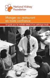 Manger au restaurant en toute confiance - National Kidney Foundation