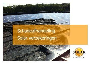 Solar Insurance & Finance - Schadeafhandeling