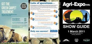 History : Download the 2011 Show Guide - Agri-Expo