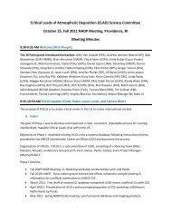CLAD Meeting Minutes - National Atmospheric Deposition Program