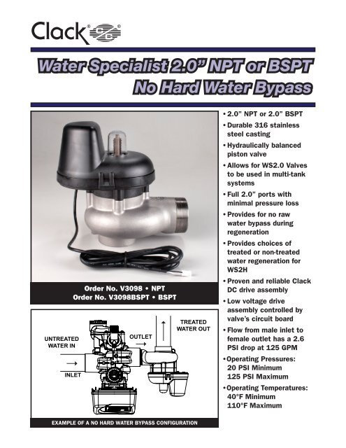 Clack Corporation Water Softener Manual