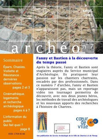 """Télécharger """"journal_num7.pdf"""" - service Archéologie de la ville de ..."""