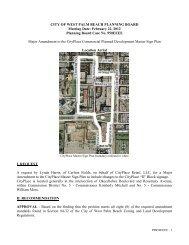 Planning Board Case No. 950EEEE - City of West Palm Beach