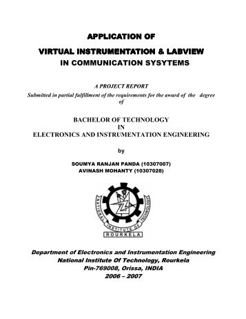 project thesis nit rourkela