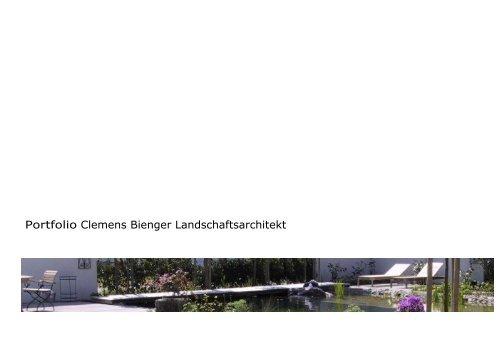 Portfolio Clemens Bienger Landschaftsarchitekt