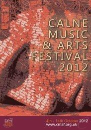 2012 Brochure - Calne Music and Arts Festival
