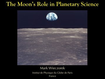 The Moon's Role in Planetary Science - Université Bordeaux 1