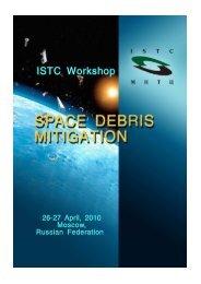Space Debris programme for ISTC website