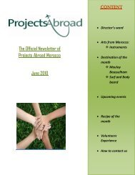 The Official Newsletter of Projects Abroad Morocco June 2010