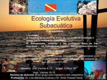 Ecología Evolutiva Subacuática - Facultad de Biología - Universidad ...