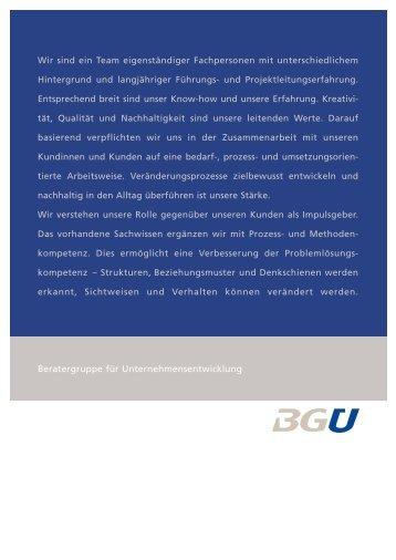 Klaus Schweingruber - BGU - Beratergruppe für ...