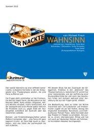 Programm von Der nackte Wahnsinn - KSG Gerlingen eV