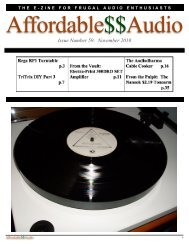Issue Number 59: November 2010 - Affordable$$Audio